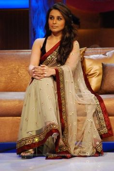in love with Sabyasachi saree ...simple yet sophisticated ...what more can I say ..:)