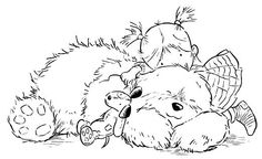 Lots of hugs Dog Coloring Page, Colouring Pics, Coloring Book Pages, Coloring Pages For Kids, Adult Coloring, Mandala Art, Digital Stamps Free, Kids Stamps, Whimsy Stamps
