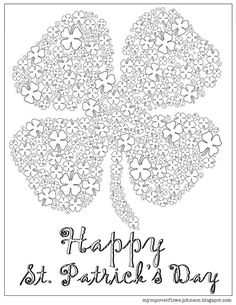 Trendy Easter Art Projects For Adults Coloring Sheets Printable Adult Coloring Pages, Coloring Pages For Kids, Coloring Sheets, Coloring Books, St Patricks Day Crafts For Kids, St Patrick's Day Crafts, Happy St Patricks Day, Doodle, Art Projects For Adults