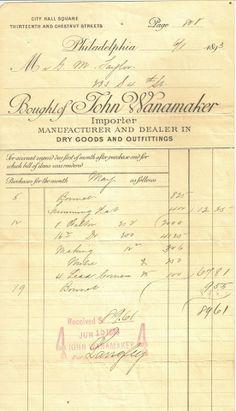 bill of sale 1893