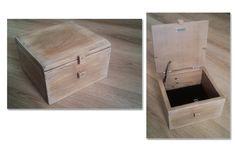 Boîte/coffre en bois de palette. 20cms sur 13. Vieilli et patiné.