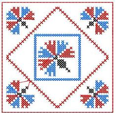 Cross stitch decoration free embroidery design 7 - Decoration element - Machine embroidery forum