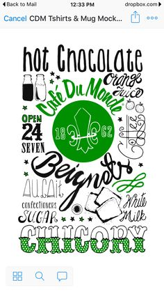 Beignets, Hot Chocolate, Mugs, Crockpot Hot Chocolate, Tumblers, Mug, Fritters, Hot Fudge, Cups