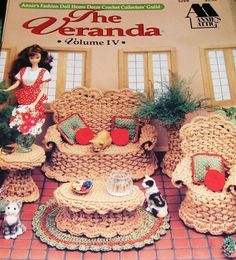 ... Doll Home Decor Crochet Pattern The VERANDA Wicker Garden Furniture