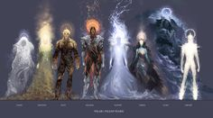Alguns dos Ainur - Fonte: http://imgur.com/gallery/zRqPMxJ