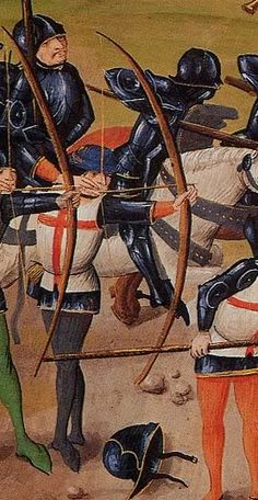 Longbow archers. -- curious stance but...