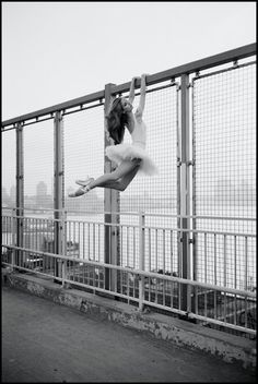 violeta on the williamsburg bridge . .by ballerina project . . .