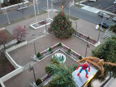 Spidey on top of City Hall in Vineland, NJ.