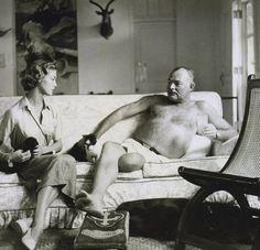 Jean Patchett and Ernest Hemingway by Clifford Coffin, Vogue, 1950