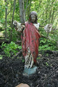 forgotten shrine.....long forgotten statue at the site of a ruined castle