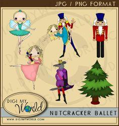Nutcracker Ballet ballet play  clipart set by DigiMyWorld on Etsy, $4.99