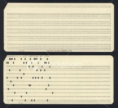 Computer punch card.  That's the way we did it!!