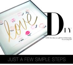 MadeByGirl: DIY: Bridesmaids Gift Idea