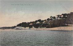 c.1910 Cliff Beach & Bath Houses Sea Cliff LI NY post card | eBay