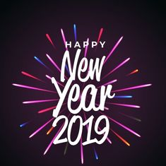 new year 2018 background dark image