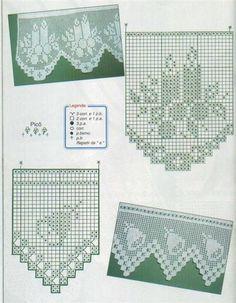 Bicos croche natal 1 Gráficos de Bicos de Crochê para GuardanaposToalhas de Banho e de Mesa