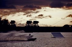 Wakeboarding. Russia, Dubna. Dubna wake-park. Vertigo cableway http://vertigosports.ru