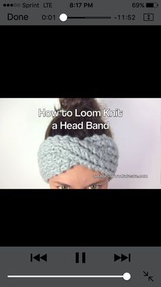 Loom knit headband https://m.youtube.com/watch?v=5tSJMYzMdMs