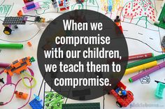 Compromise is not the same as giving in - learning to compromise as a parent,