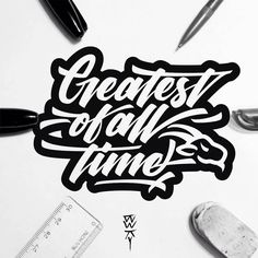 Great script, the goat head is a nice touch. Type by @bwkydesign | #typegang - typegang.com