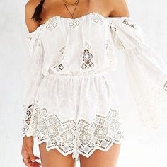 STONE COLD FOX ADEN ROMPER SCF romper in white. Brand new, never worn. Size 3 (medium/large). Scf runs extremely small!! Stone Cold Fox Other