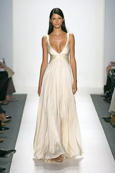 Reem Acra...This is my Oscar dress, missing the gigantic diamond necklace I would wear around my neck.