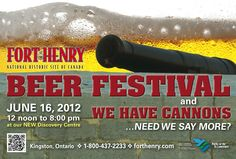 Celebrate your dad at Fort Henry's Father's Day Beer Festival June 2012 in Kingston, Ontario. Kingston Ontario, Beer Festival, Say More, Historical Sites, Summer Fun, Fathers Day, Canada, Lol, Events