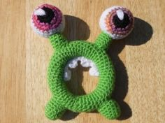 Monster baby rattle by bette