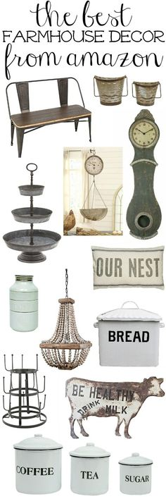 The Best Farmhouse Decor from Amazon: some cute stuff here.