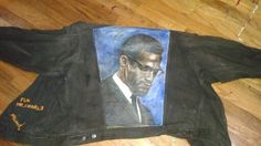 I painted this image of the late great Malcolm X Shabazz over 25 years ago!