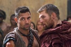 Still of Manu Bennett and Liam McIntyre in Spartacus: War of the Damned (2010)