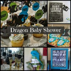 dragon themed baby shower