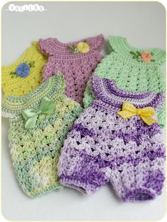 rompers for lati yellow/pukifee (_vasilka_) Tags: doll handmade crochet clothes bjd jaime adonis rompers latiyellow pukifee Crochet Romper, Crochet Bebe, Baby Girl Crochet, Love Crochet, Crochet For Kids, Knit Crochet, Baby Doll Clothes, Crochet Doll Clothes, Knitted Dolls