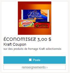 Économisez 3.00$ sur les produits sélectionnés Kraft. Par la poste.
