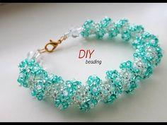 (29) DIY.Браслет из бисера цветочный. Floral Tubular netted 🌺 Bracelet - YouTube