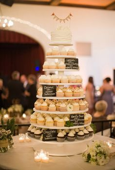 cupcake tower with a little cake just for us!