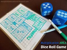 Multiplication AREA Dice Roll Game - Relentlessly Fun, Deceptively Educational