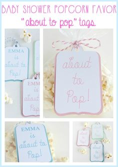 Custom Quot She S About To Pop Quot Popcorn Box Stickers Lollipop