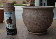 My new fav... Stone looking spray paint