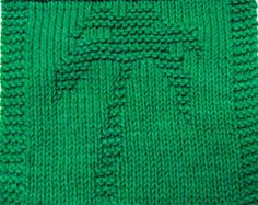 Knitting Cloth Pattern - PALM TREE - PDF