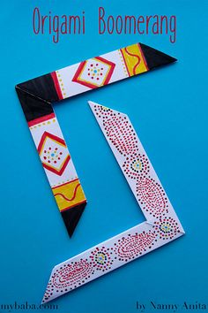 to Make an Origami Boomerang Make these awesome origami boomerangs that really do come back.Make these awesome origami boomerangs that really do come back. Origami Toys, Origami Ball, Origami Paper, Easy Paper Crafts, Newspaper Crafts, Origami Instructions, Origami Tutorial, Origami Boomerang, Origami Flowers