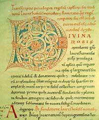 Primera Página del Códice de Lorsch.