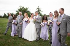 Light Purple and grey-silver tuxedos wedding theme dresses