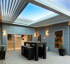 Pergola With Roof Gazebo - - Concrete Pergola Ideas - Narrow Pergola Ideas - Pergola Tuin Garage Pergola, Corner Pergola, Deck With Pergola, Outdoor Pergola, Backyard Pergola, Patio Roof, Pergola Plans, Pergola Ideas, Awning Roof