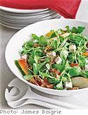 Salad with Pear, Cheese, Beets and Walnuts