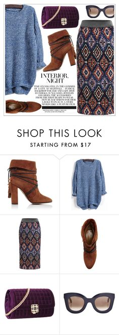 """Love yourself"" by teoecar ❤ liked on Polyvore featuring Aquazzura, CÉLINE, Fall, trend and shein"