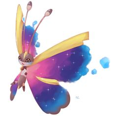 (OC) My Vivillon and Cosmog fusion for the sub's art contest on discord last year Mega Evolution, Pokemon Fusion, Cool Pokemon, Catch Em All, Me Me Me Anime, Tinkerbell, Disney Characters, Fictional Characters, Best Friends