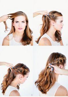 hacer un recogido sencillo paso a paso peinados