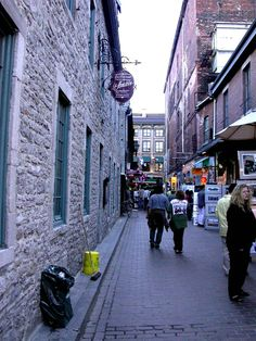 Old Montreal, Rue Saint-Amable Old Montreal, Saints, Street View, Spaces, Minecraft Ideas, Santos