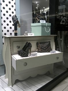#windowdisplays Love the furniture prop. From Jakarta visual merchandising